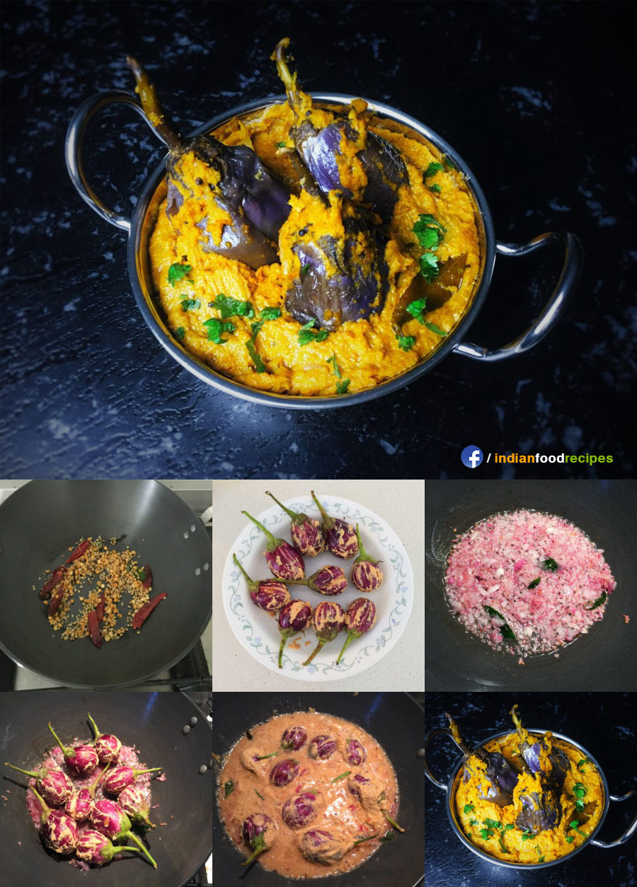 Badanekayi Ennegayi / Stuffed Eggplant recipe step by step