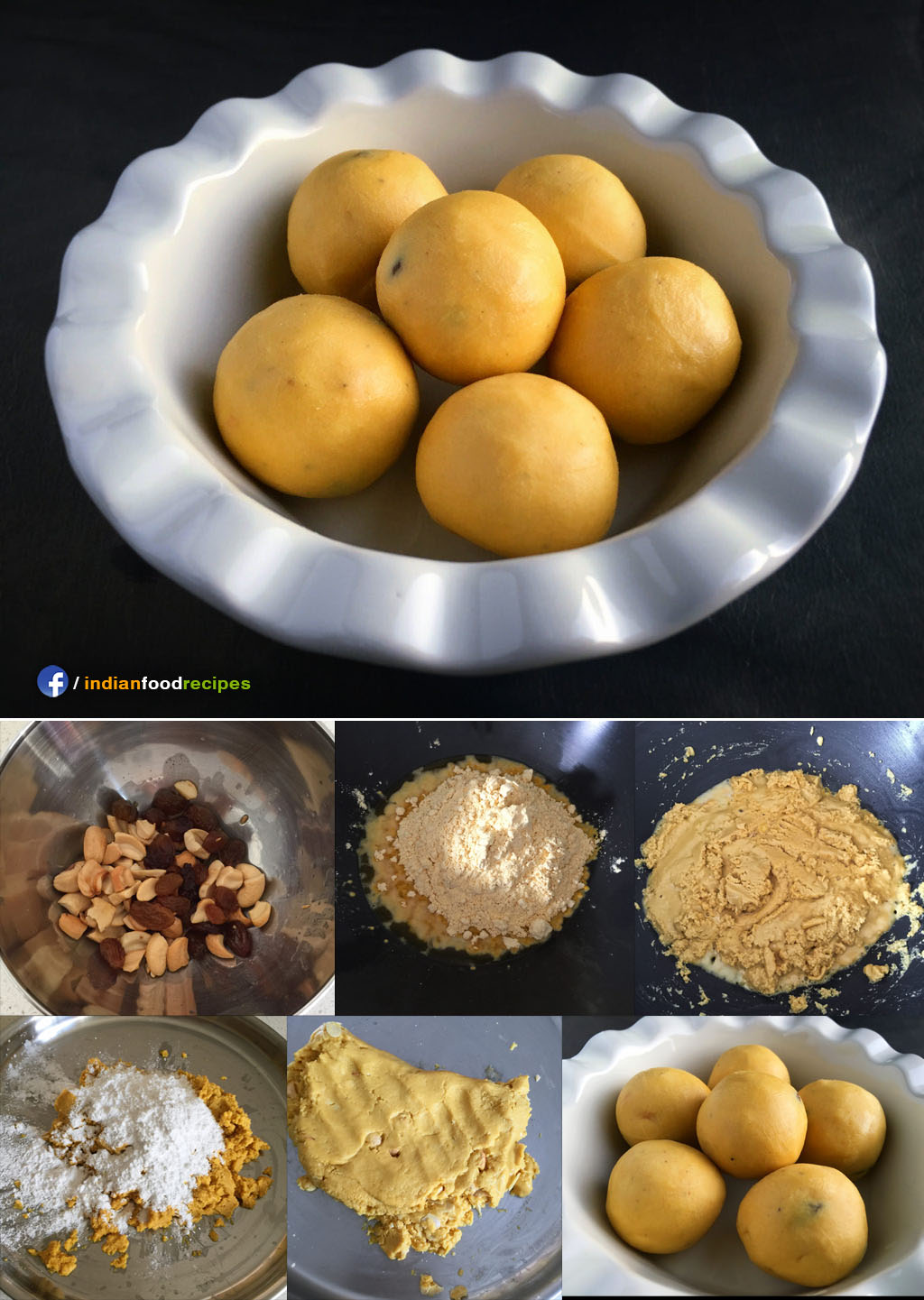 Besan Laddu recipe step by step