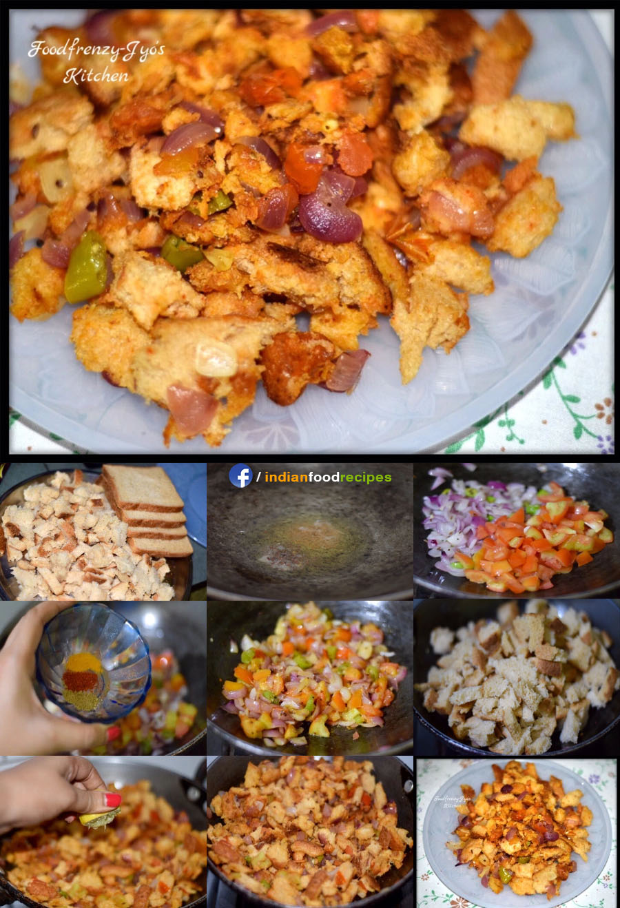 Bread Upma recipe step by step