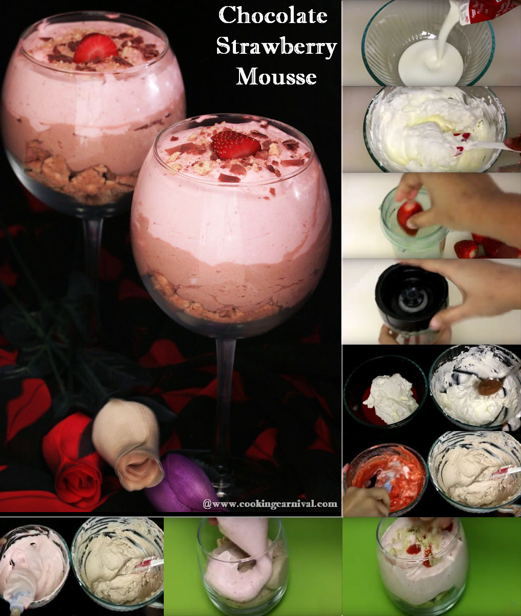 Chocolate Strawberry Mousse recipe step by step