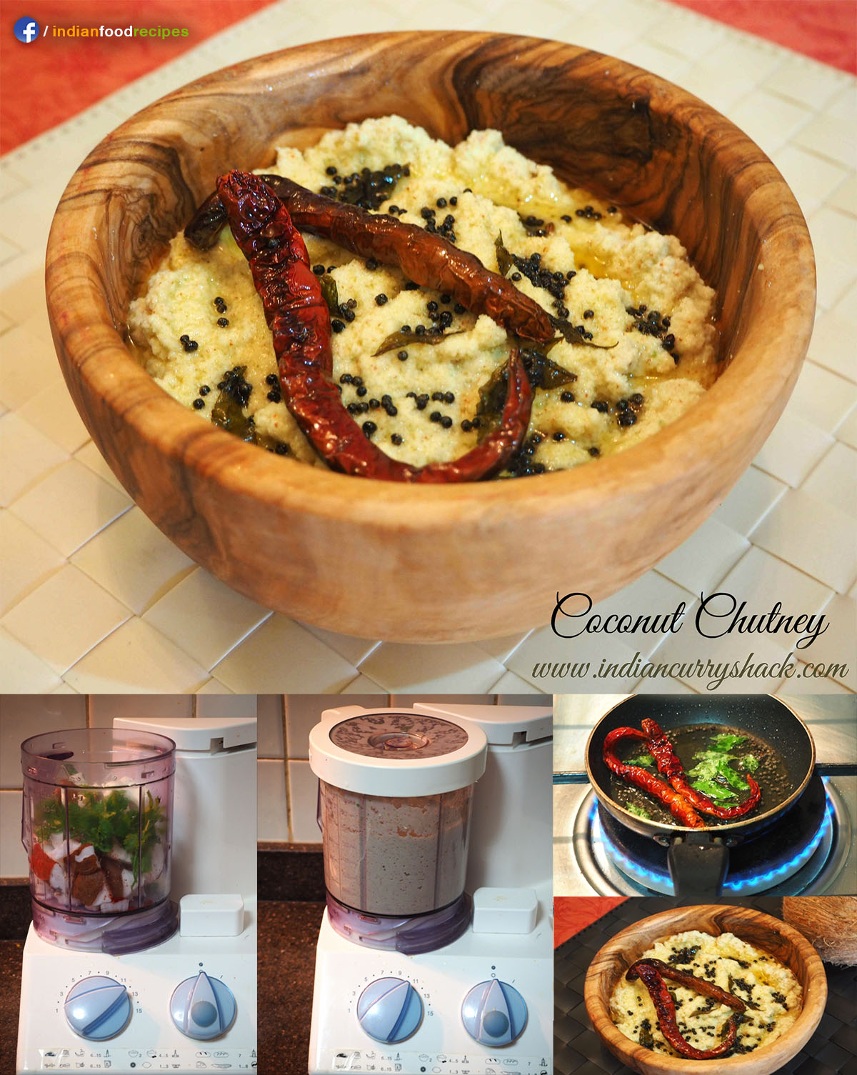 Coconut Chutney / Nariyal ki Chutney recipe step by step