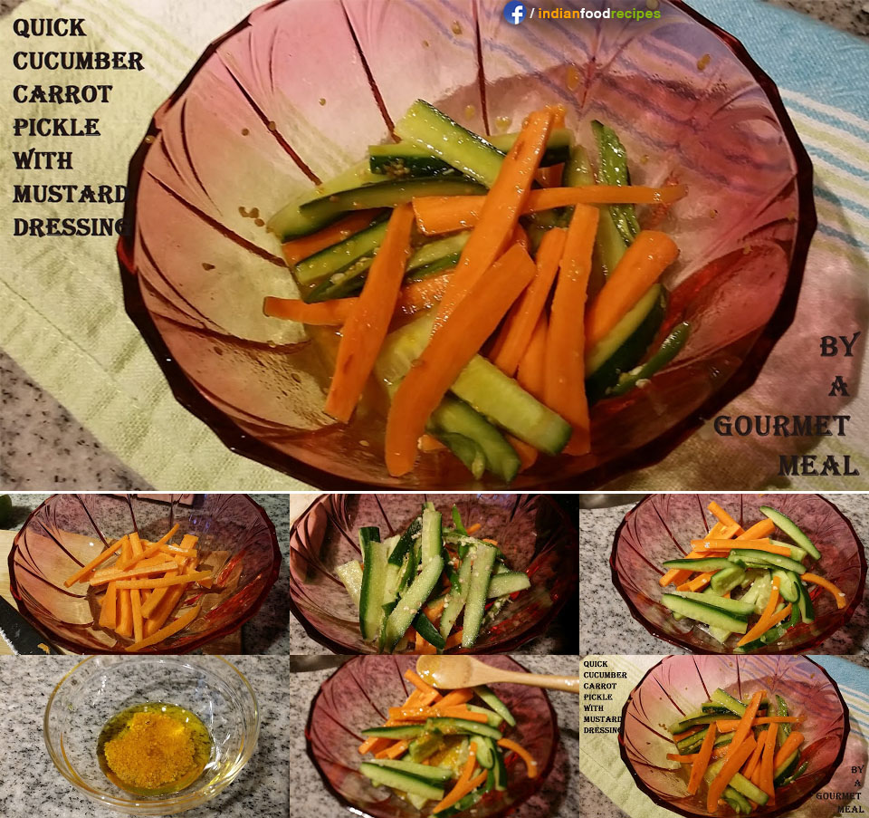Cucumber Carrot Pickle recipe step by step