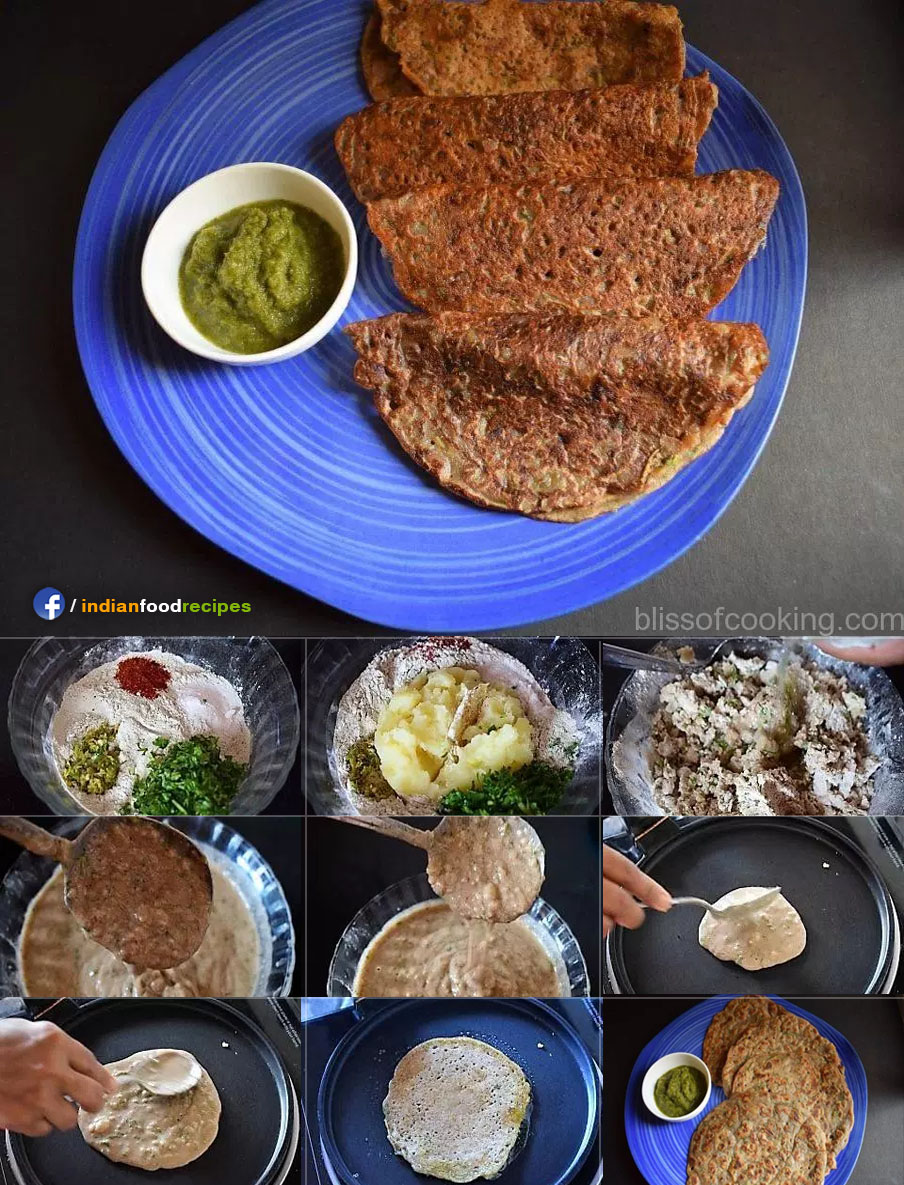 Falahari Singhare Ka Cheela (Water Caltrop Pancake) recipe step by step