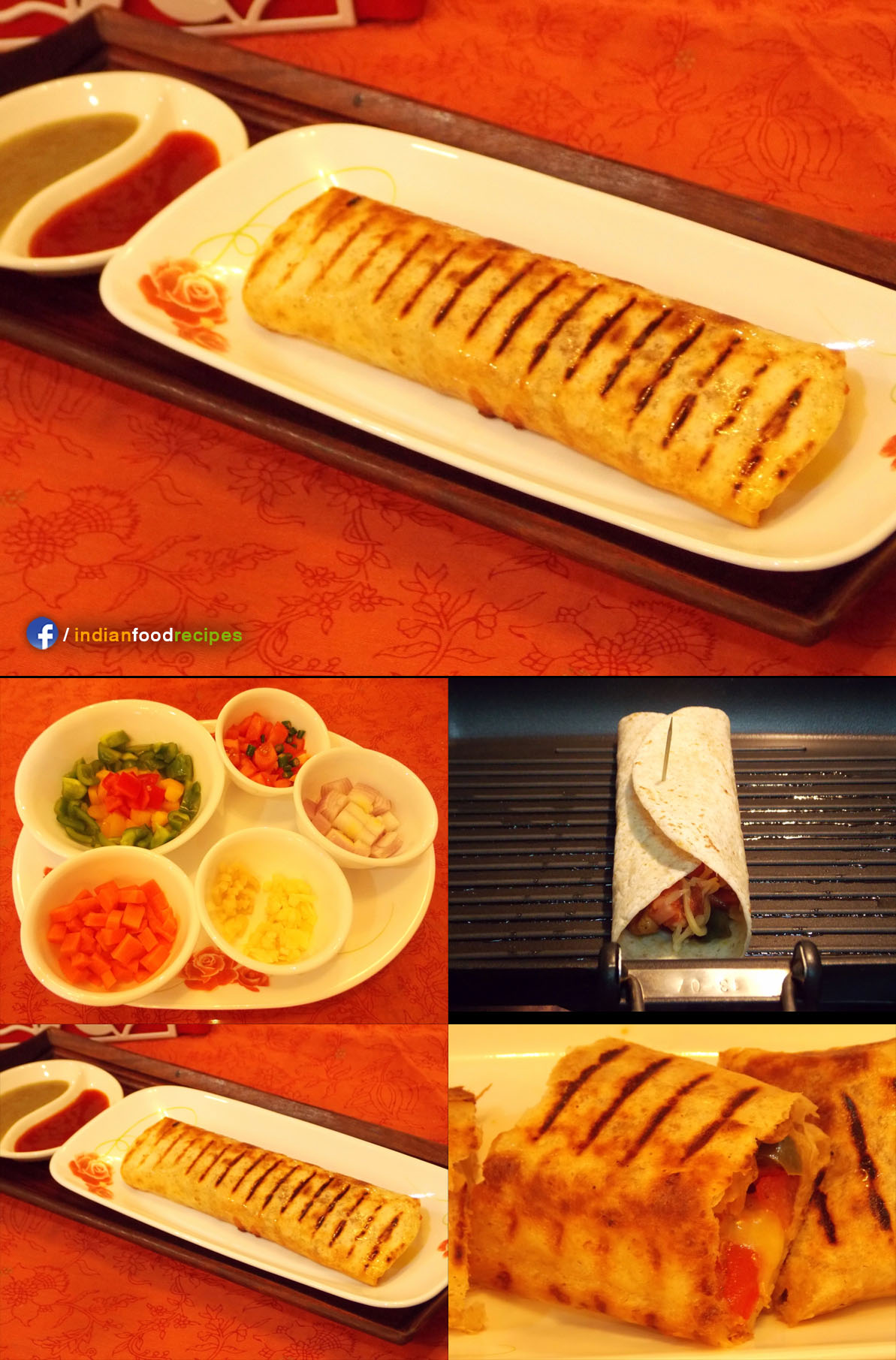 Grilled Tortilla Wrap (Indo-Mexican) recipe step by step
