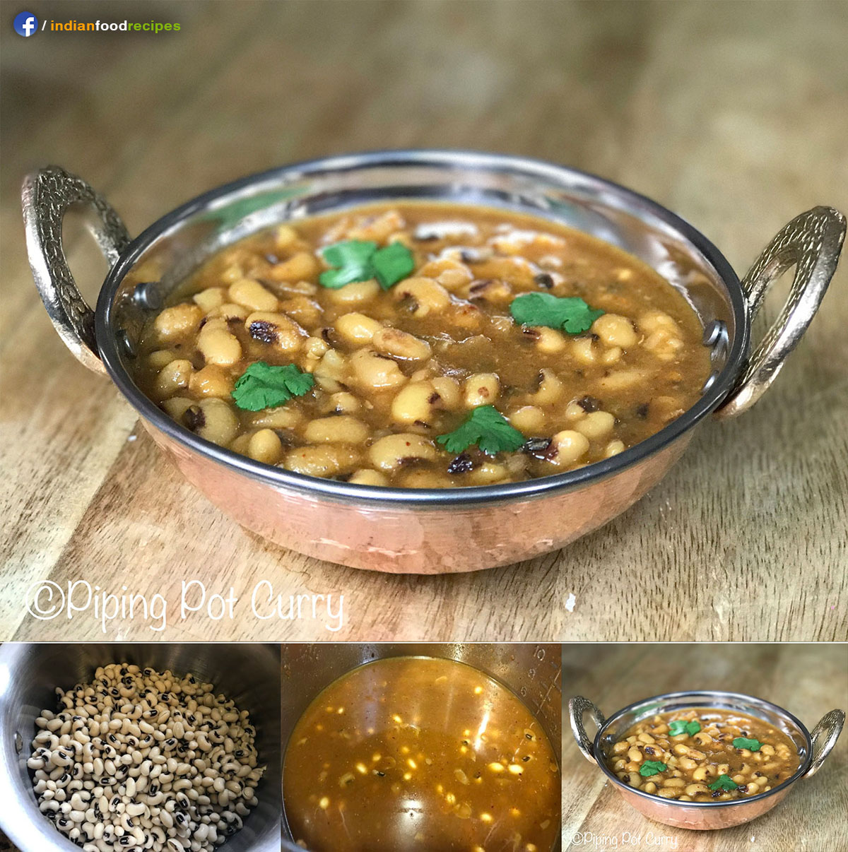 Instant Pot Black Eyed Peas Curry (Lobia) recipe step by step
