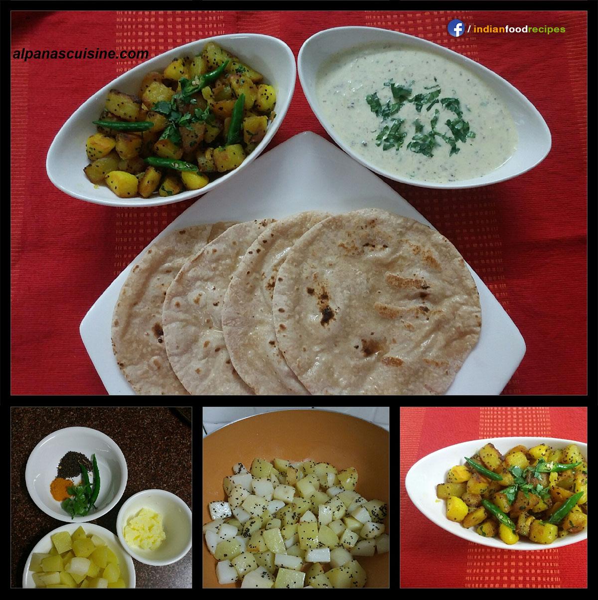 Jakhia Aloo + Kumaoni Raita (Uttarakhand) recipe step by step