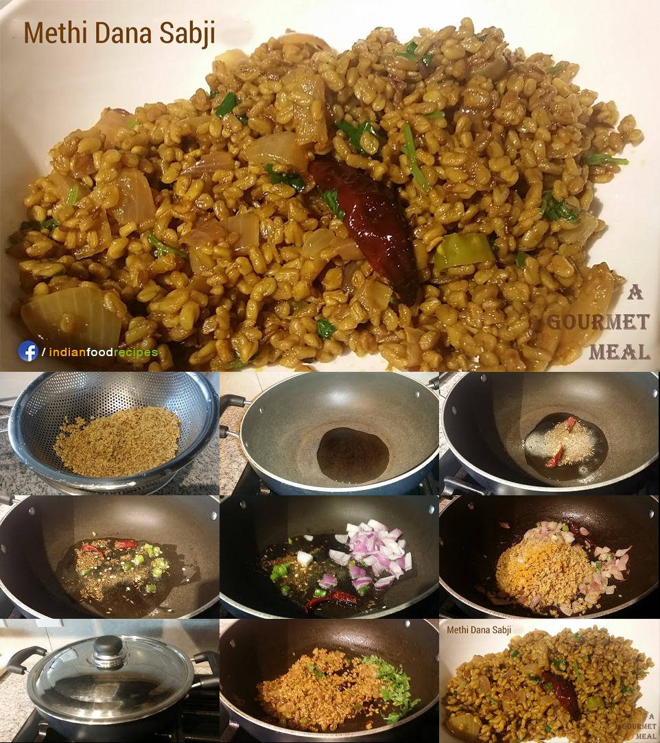 Methi Dana Sabji recipe step by step