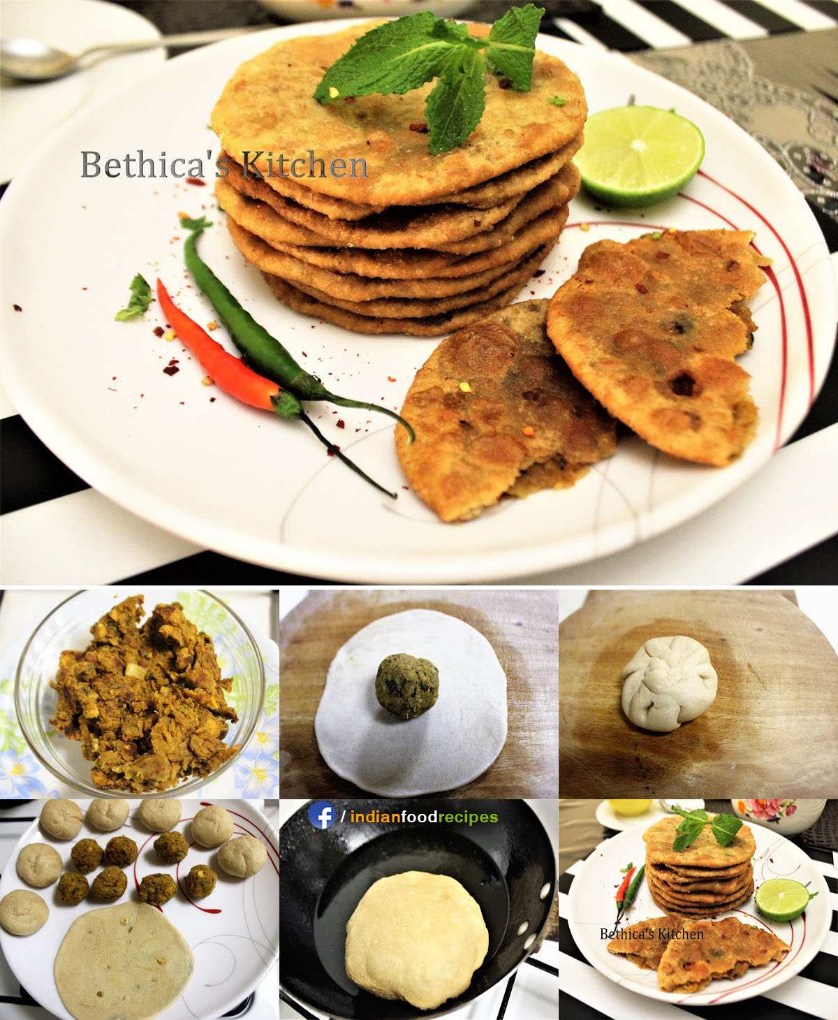 Mixed Dal Kachori (Stuffed Mixed Lentil Indian Bread) recipe step by step