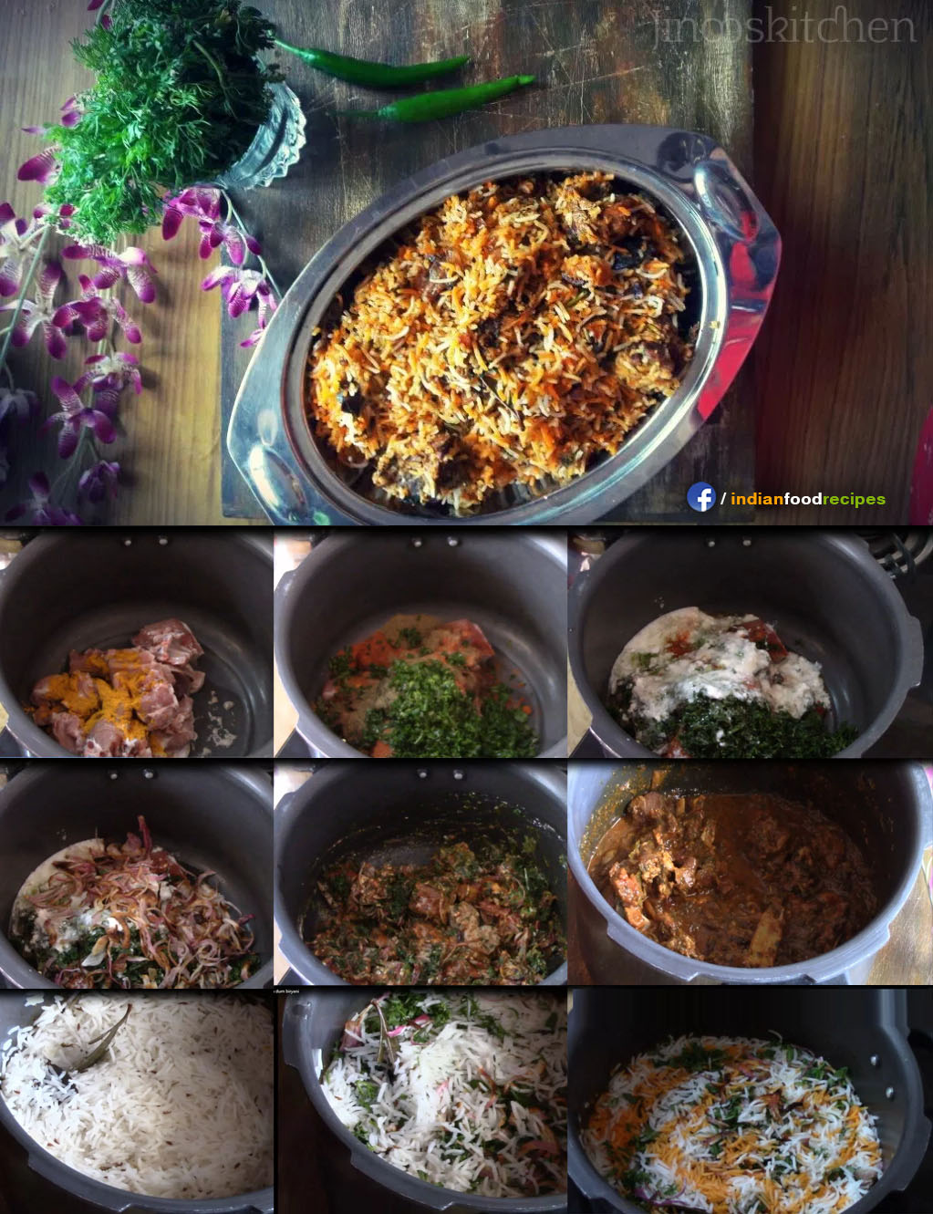 Mutton Dum Biryani recipe step by step