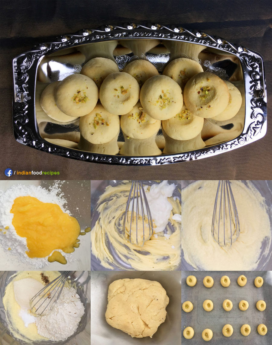 Nankhatai (Indian Shortbread Cookies) recipe step by step