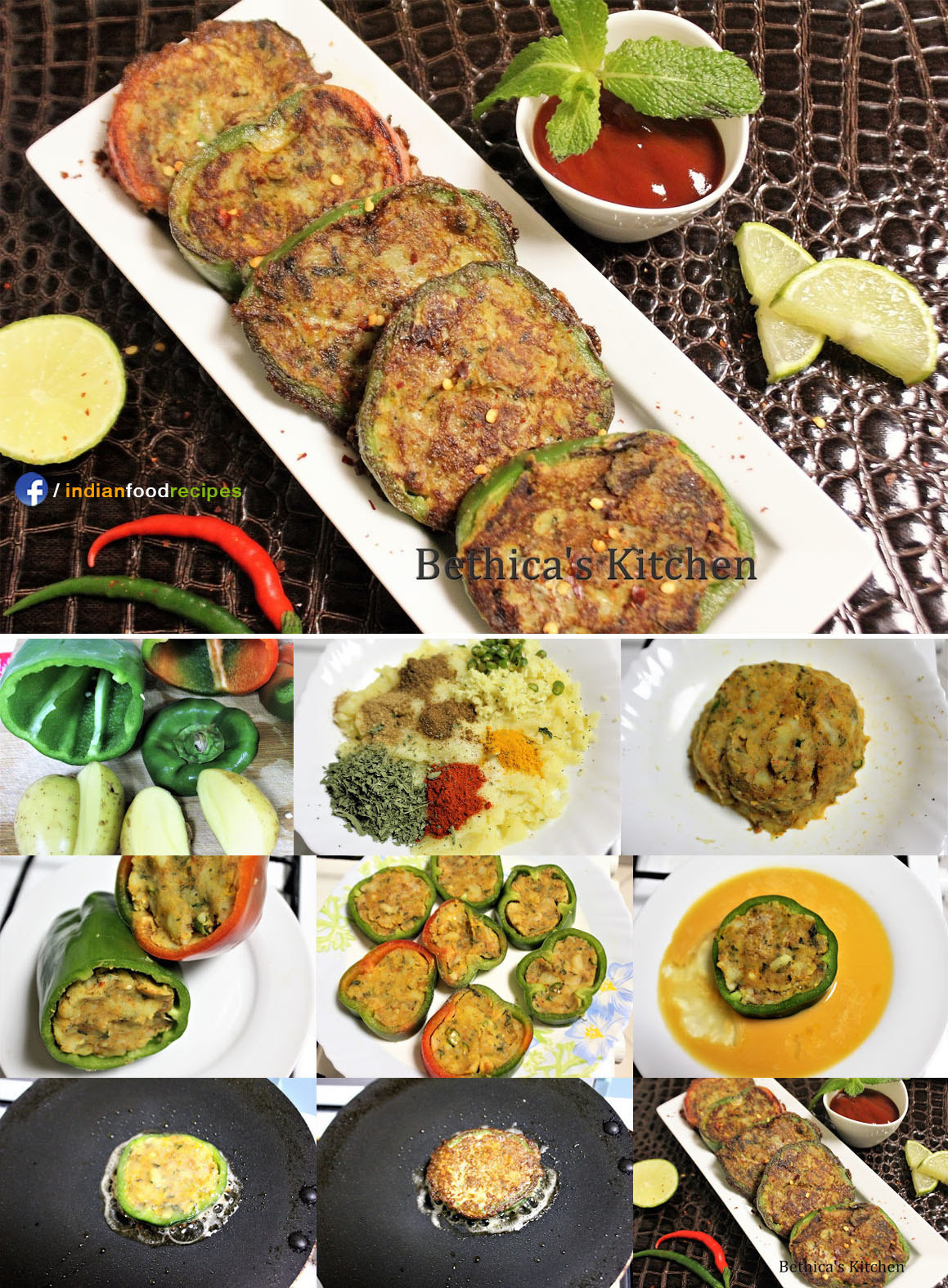 Potato Stuffed Bell Pepper Cutlet recipe step by step