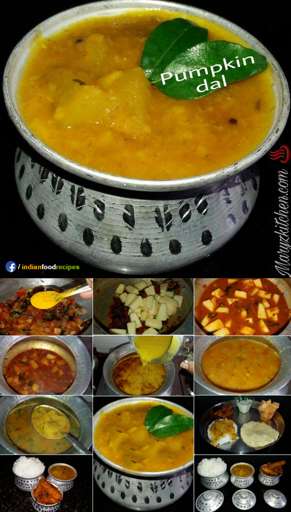 Pumpkin dal recipe step by step