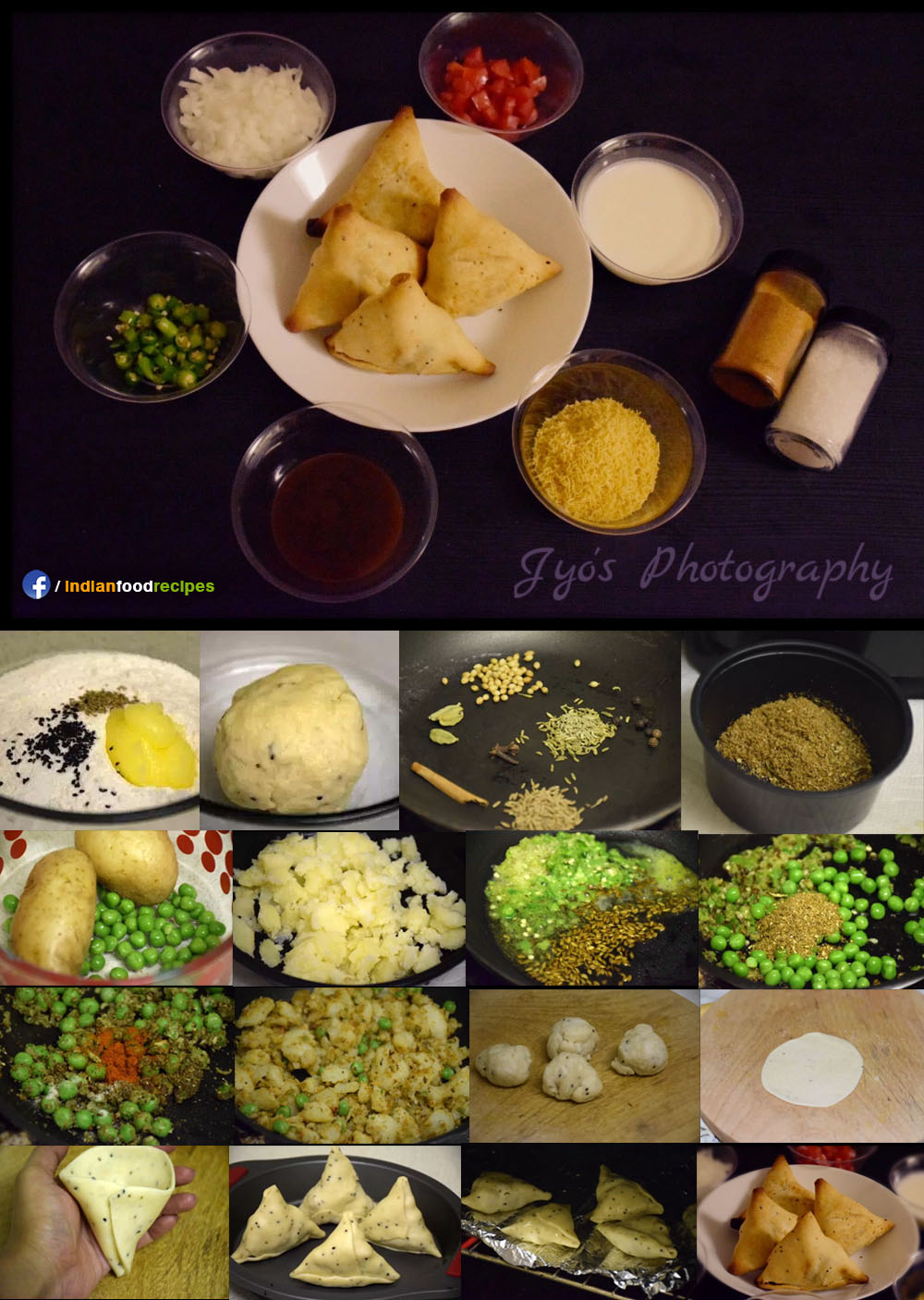 Punjabi Samosa (Chaat) recipe step by step