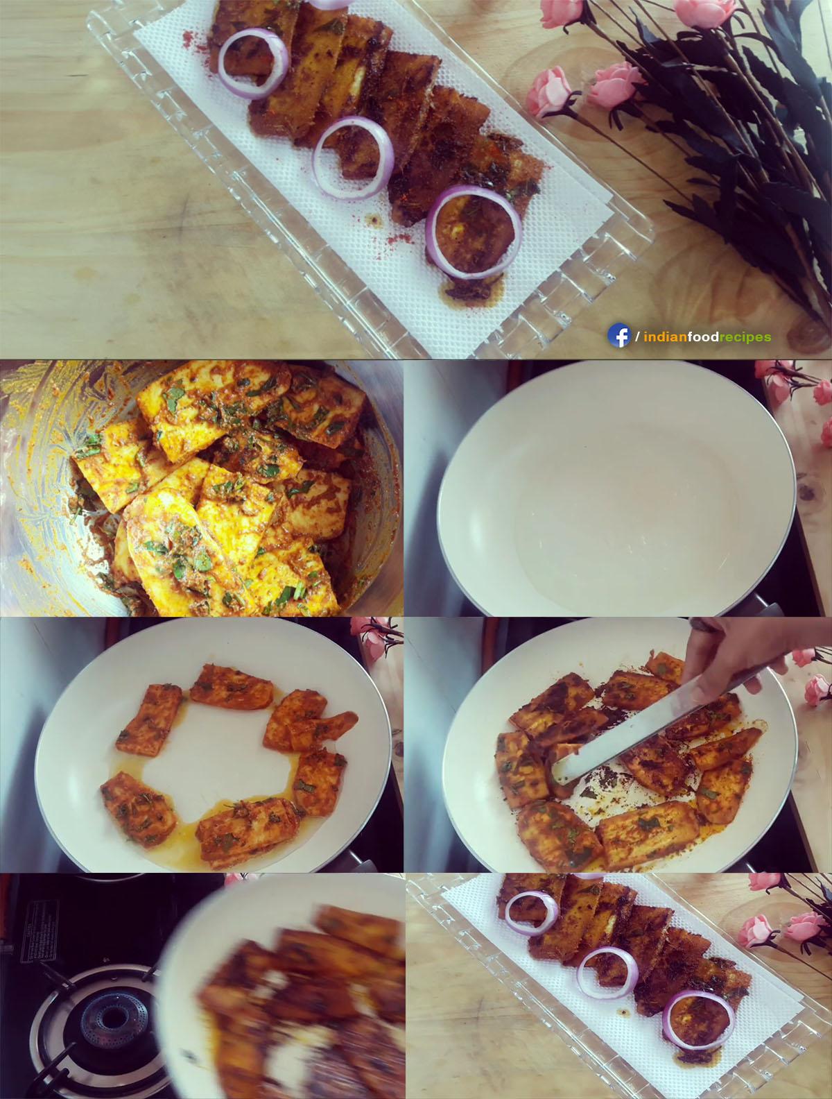 Spicy Raw Banana Stir Fry recipe step by step