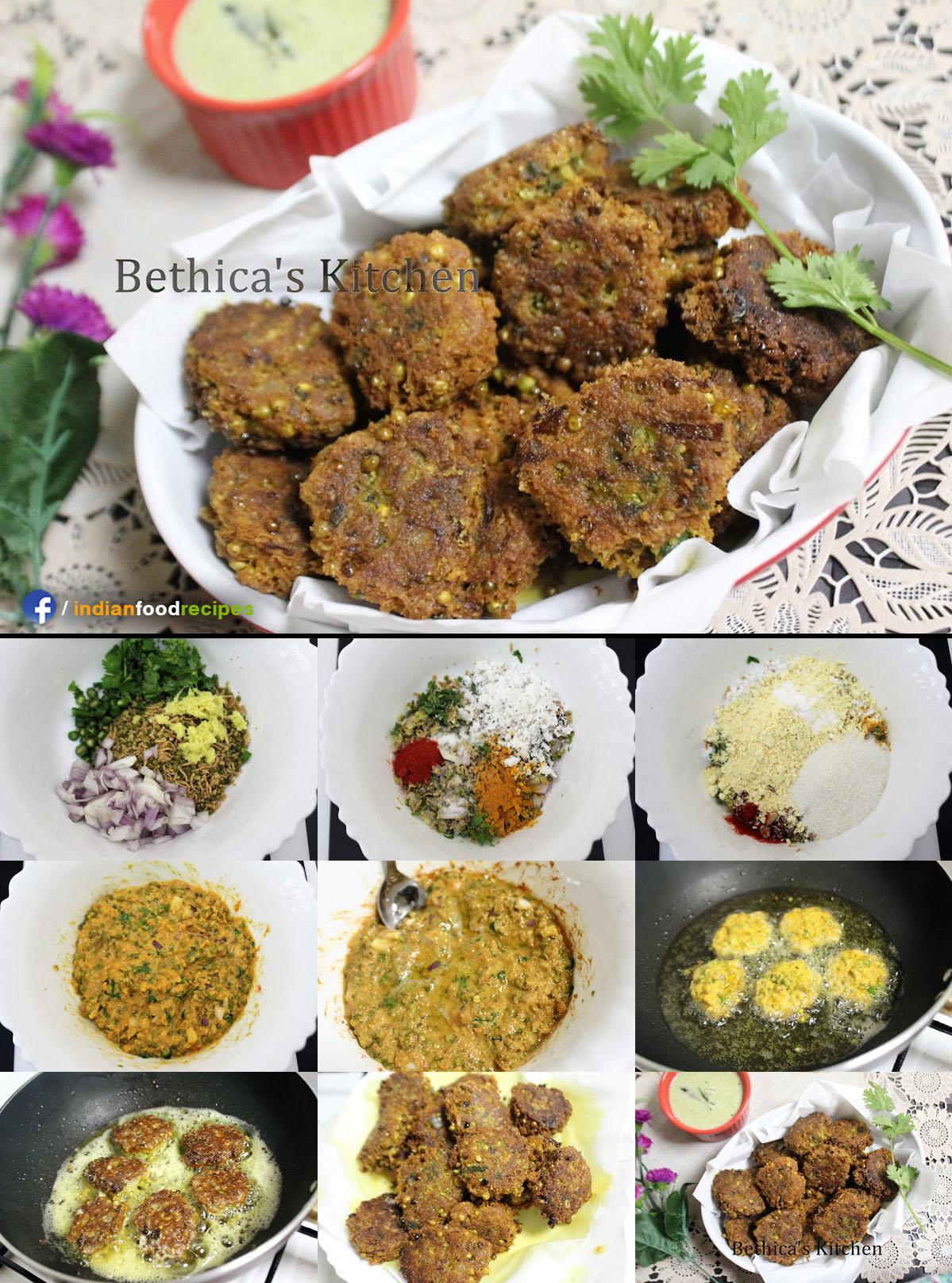 Tender Jowar Pakora (Sorghum Kernels Fritters) recipe step by step