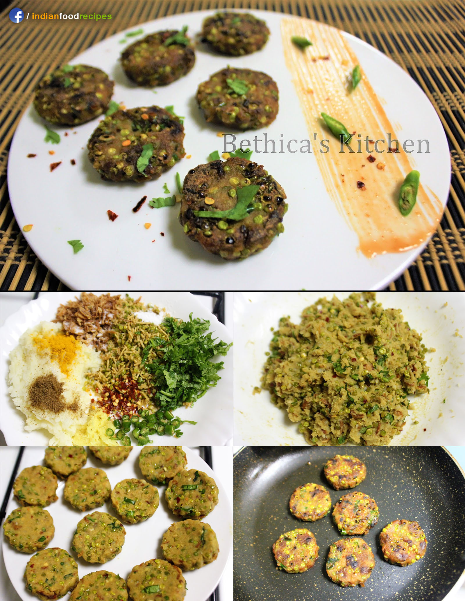 Tender Jowar Tikki / Cutlet (Sorghum Patties) recipe step by step
