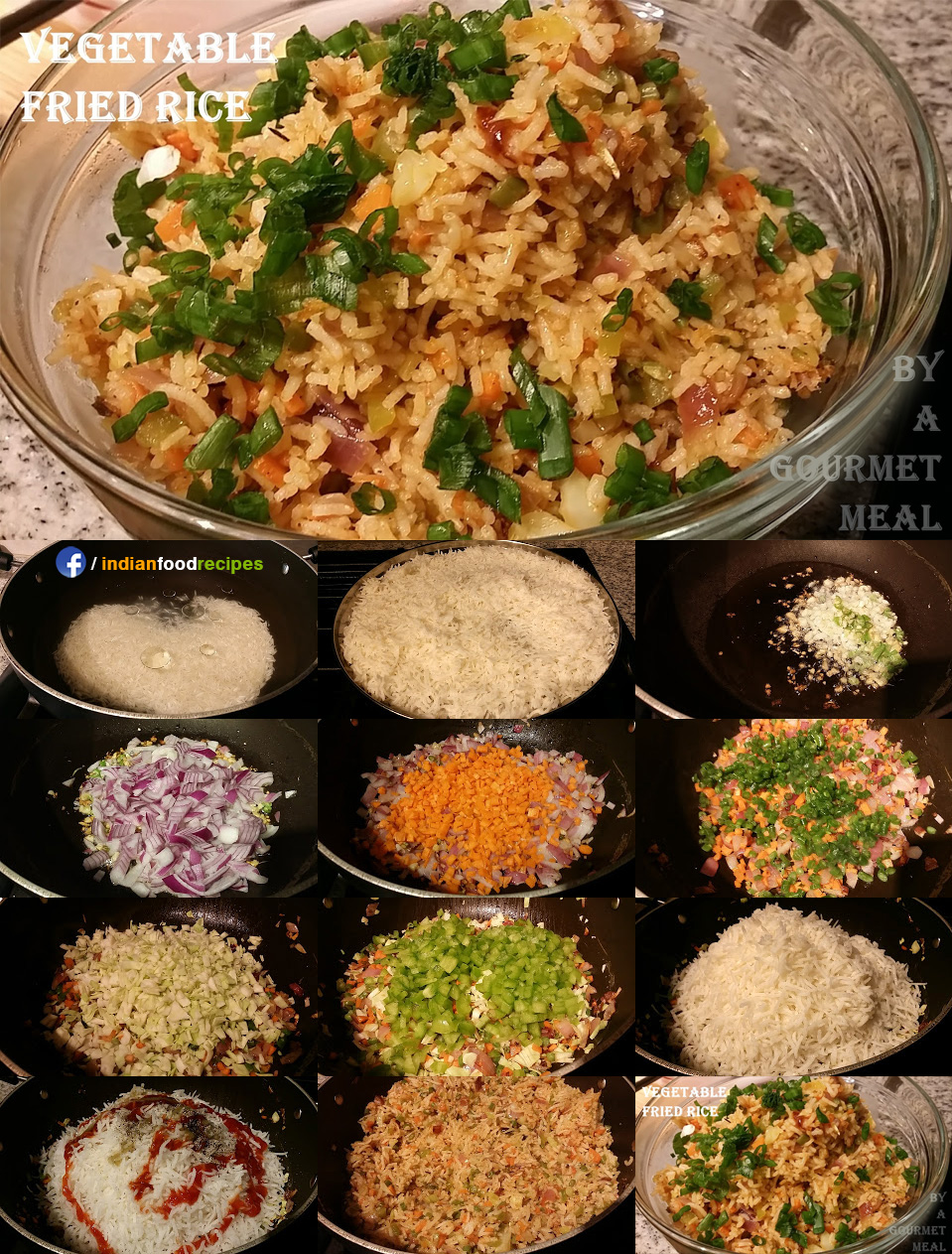Vegetable Fried Rice recipe step by step