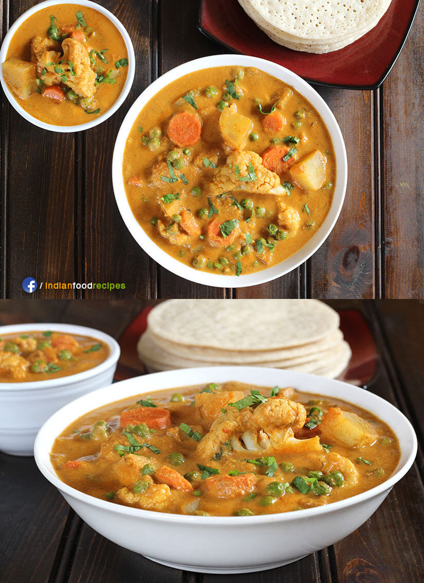 Vegetable Kurma recipe step by step