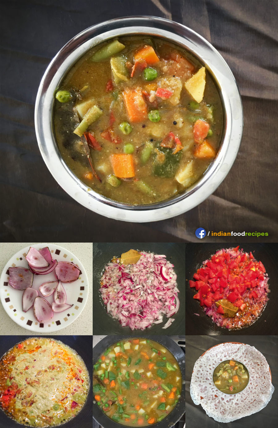 Vegetable Saagu recipe step by step
