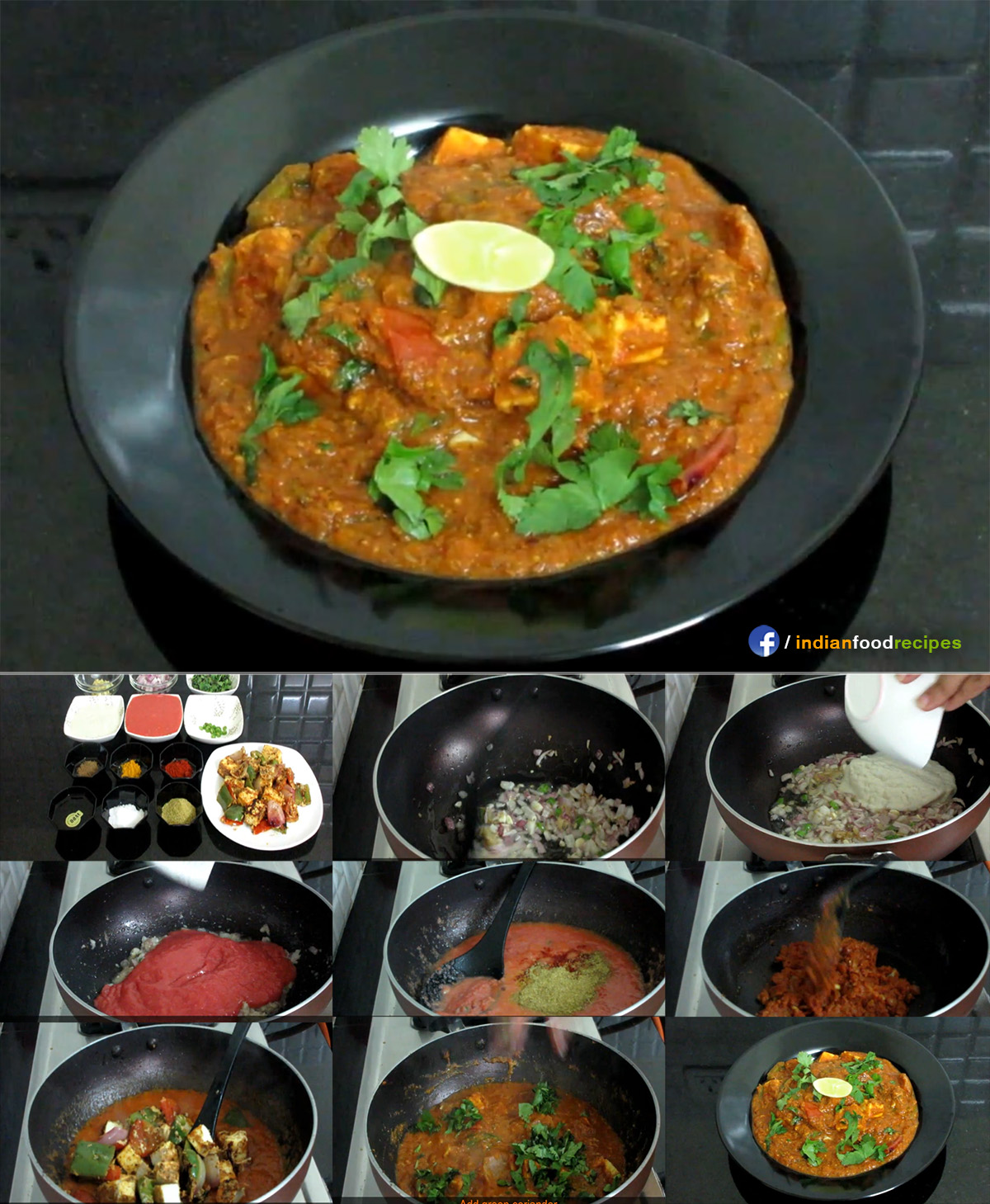 Paneer Tikka Masala recipe step by step