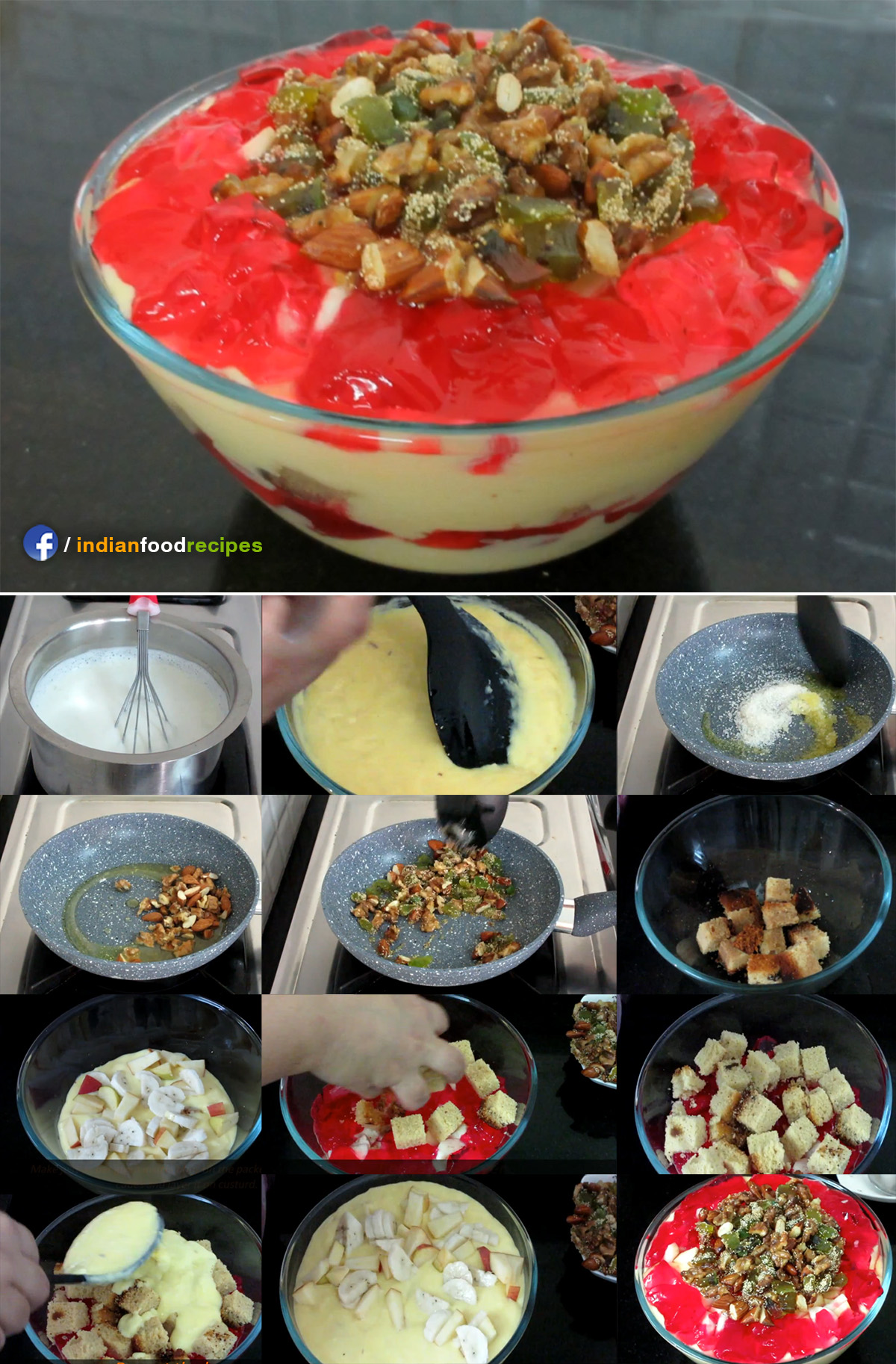 Trifle Pudding recipe step by step
