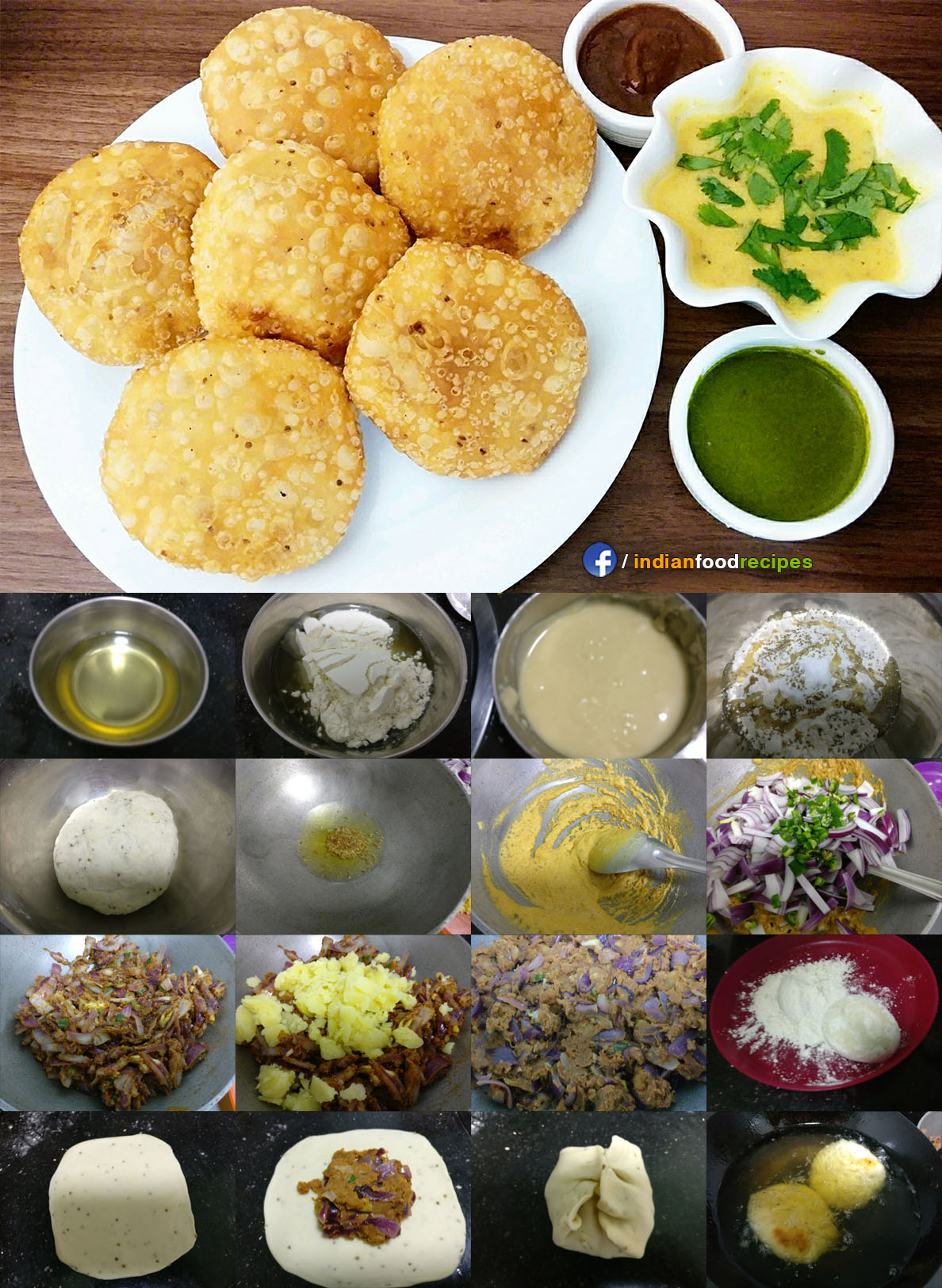 Aloo Pyaaz ki Kachori (Potato Kachori) recipe step by step