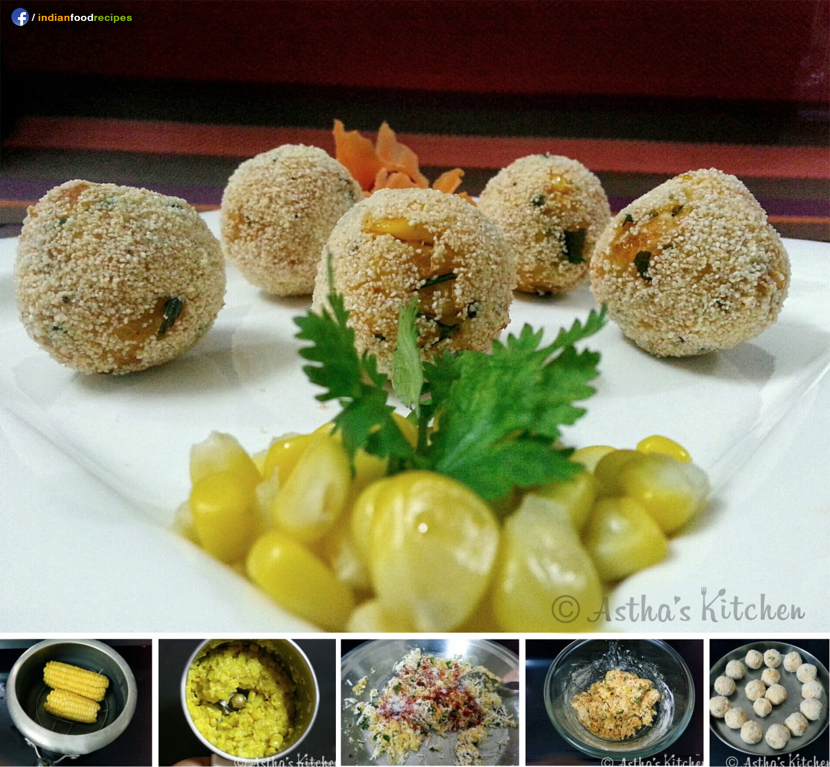 Corn Cheese Balls recipe step by step