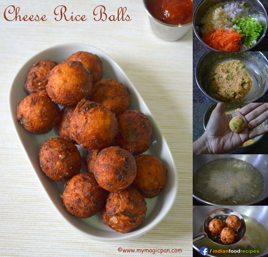 Easy Cheese Rice Balls recipe step by step