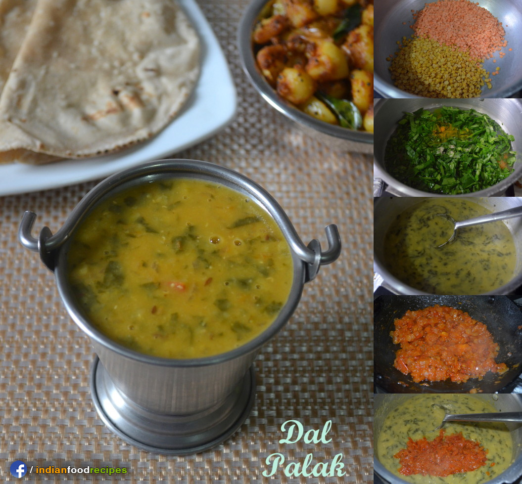 Easy Dal Palak – Spinach Dal – Palak Dal recipe step by step