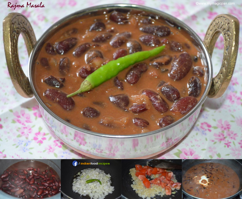 Easy Rajma Masala – Red Kidney Beans Gravy recipe step by step