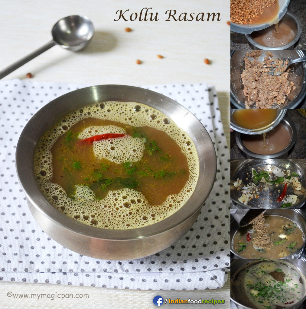 Easy Rasam – Kollu Rasam – Horse Gram Rasam recipe step by step
