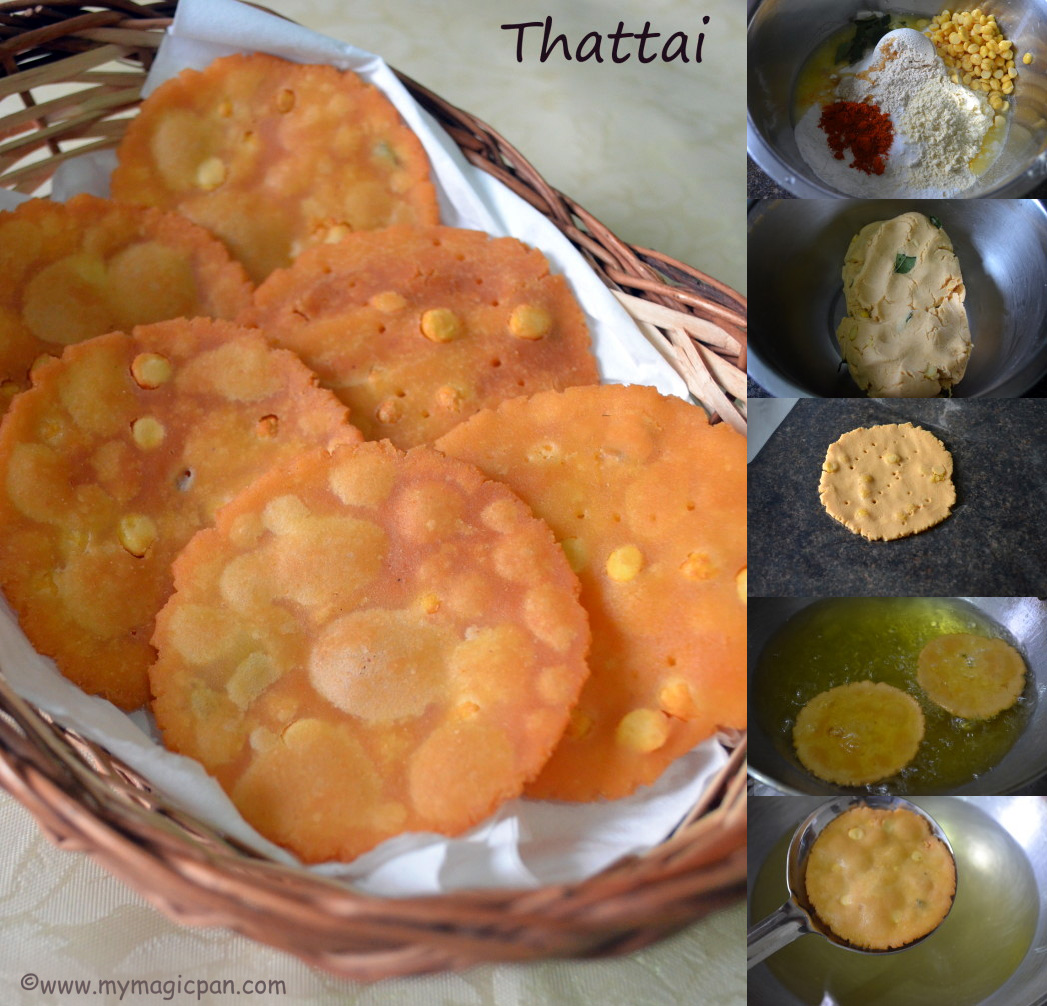 Easy Thattai – Tea Time snack recipe step by step