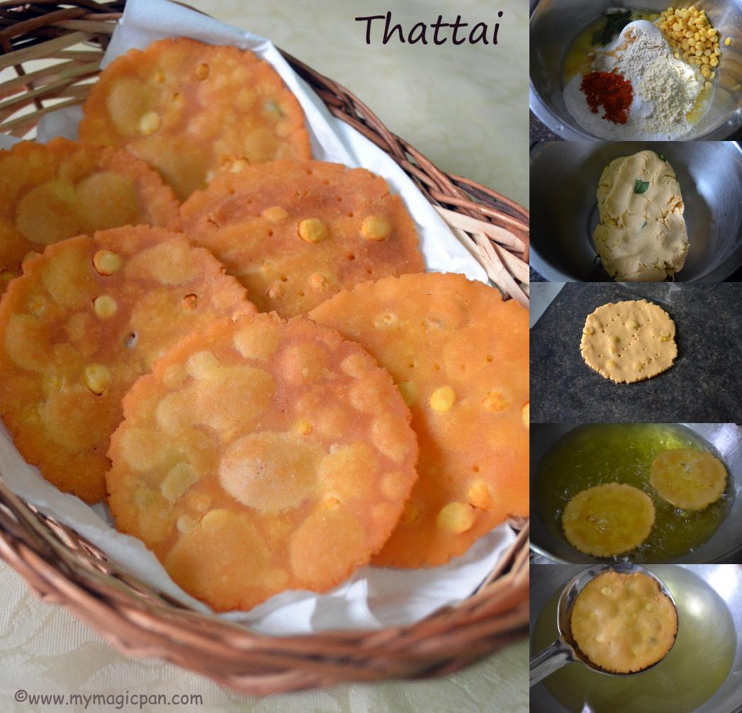 Easy Thattai – Tea Time snack recipe step by step
