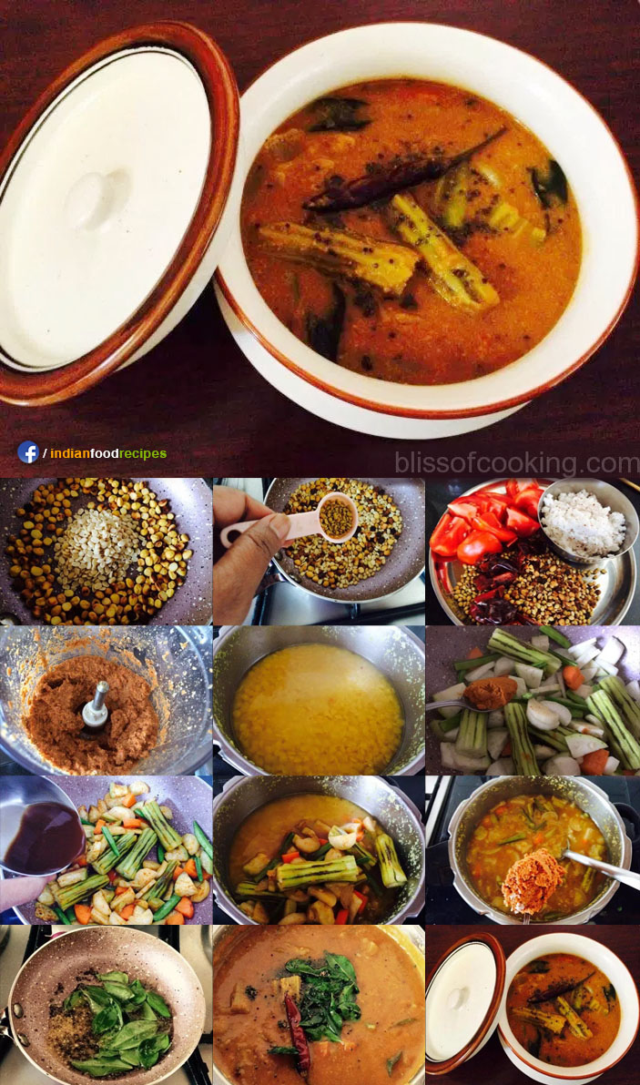 Sambar with Freshly Ground Masala recipe step by step