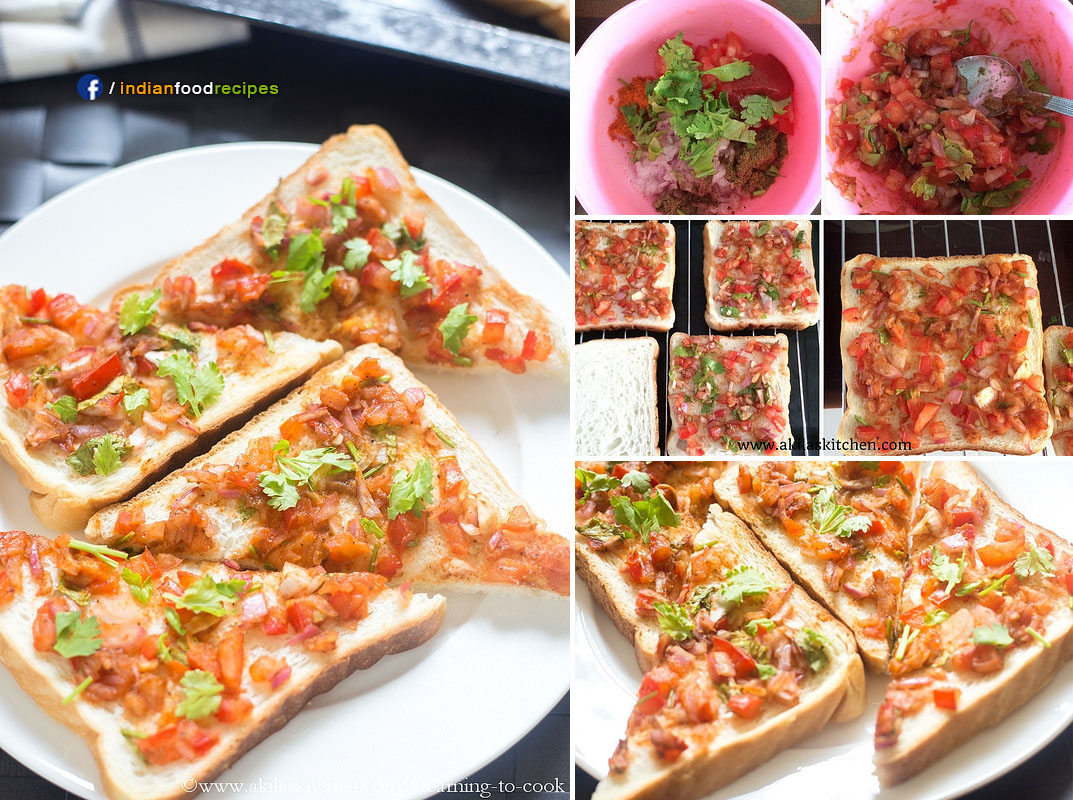 Tomato Bread Toast Indian Style recipe step by step