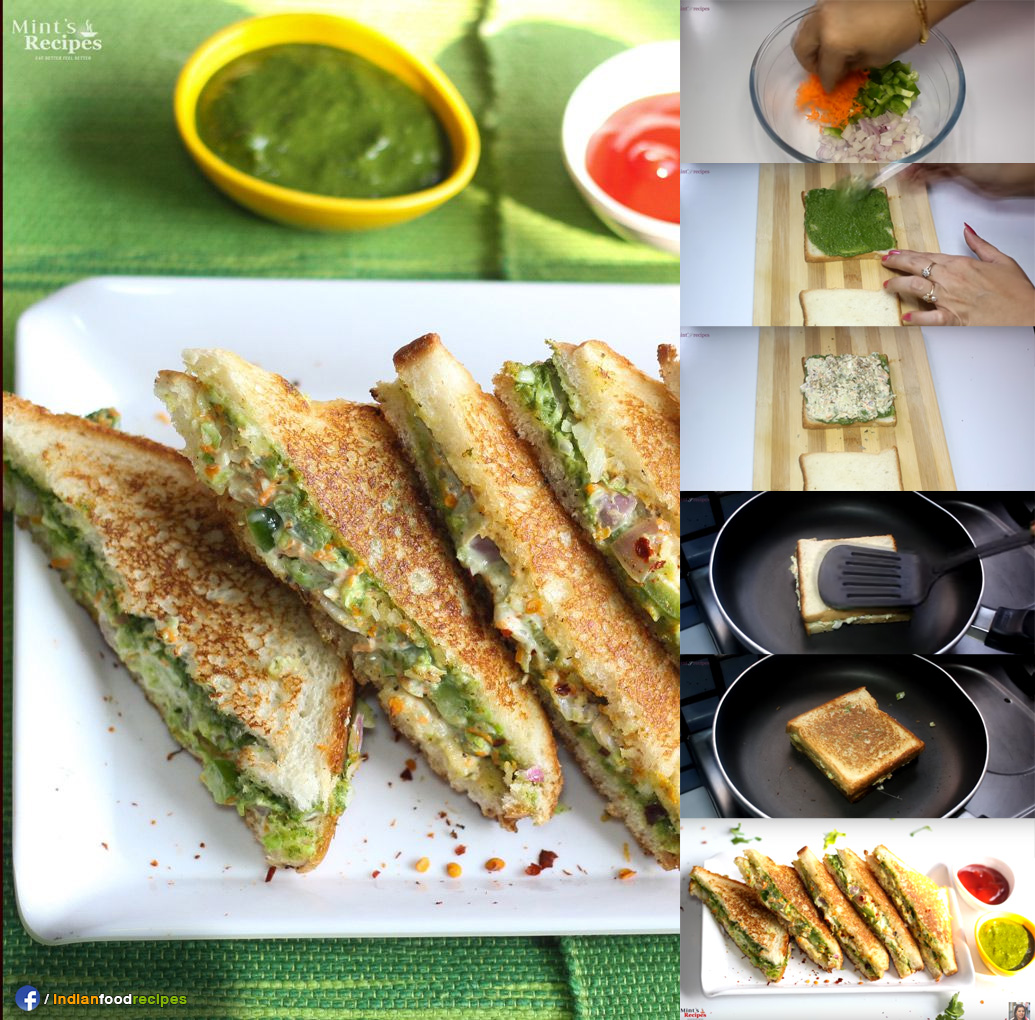 Veg Mayonnaise Sandwich recipe step by step
