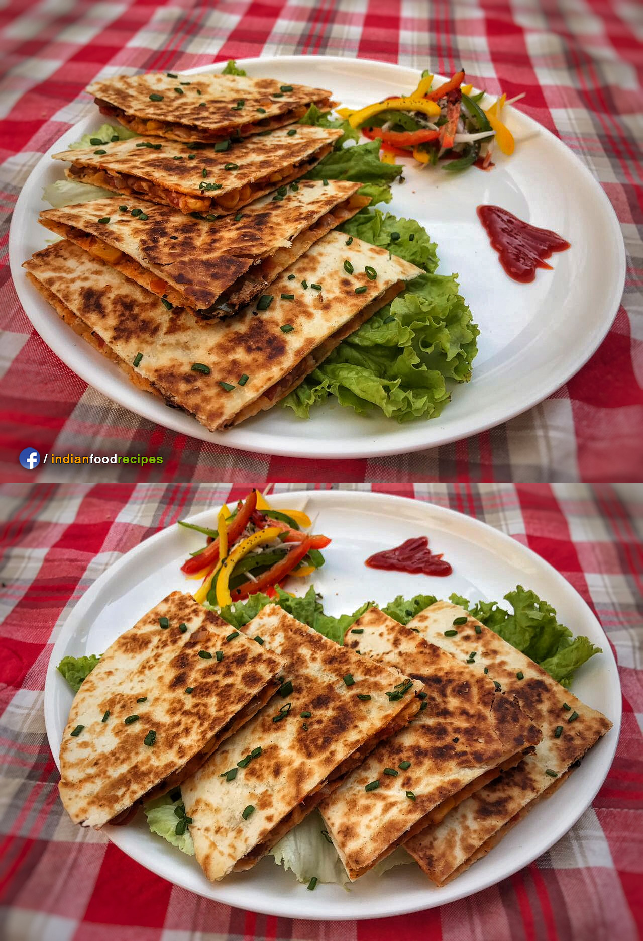 Veg Quesadilla (Indo-Mexican) recipe step by step