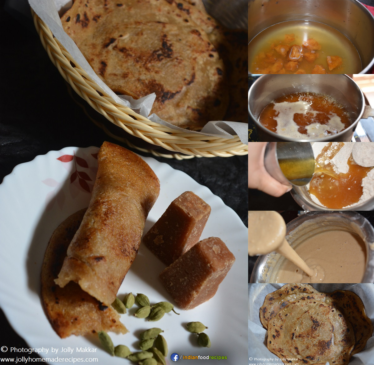 Whole Wheat Jaggery Pancake recipe step by step