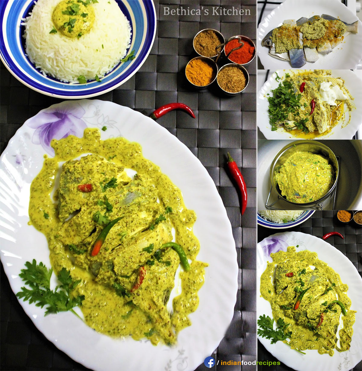 Bhapa Shorshe Pomfret (Steamed Mustard Pomfret – Bengali Style) recipe step by step pictures