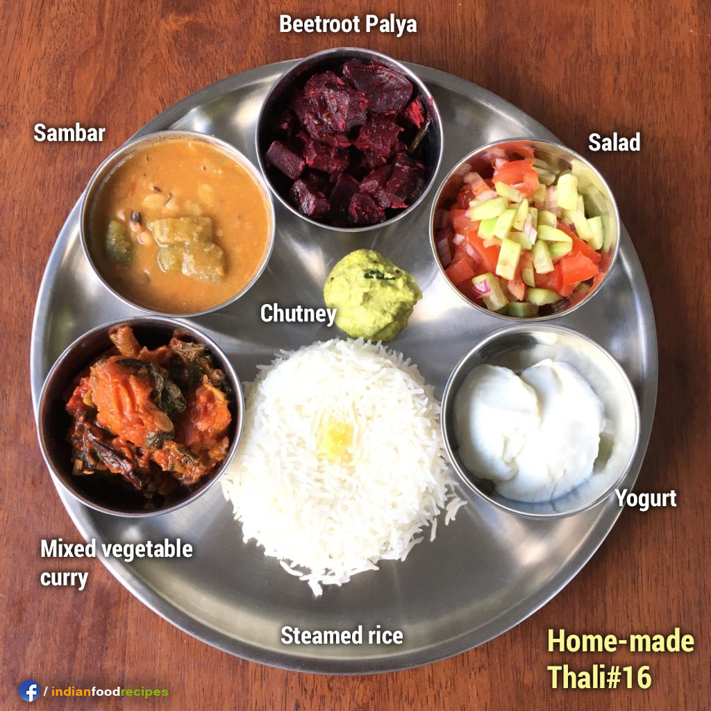 Home-made Thali #16 recipe step by step pictures