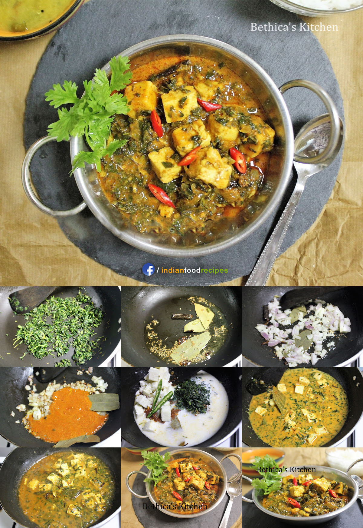 Methi Paneer recipe step by step pictures