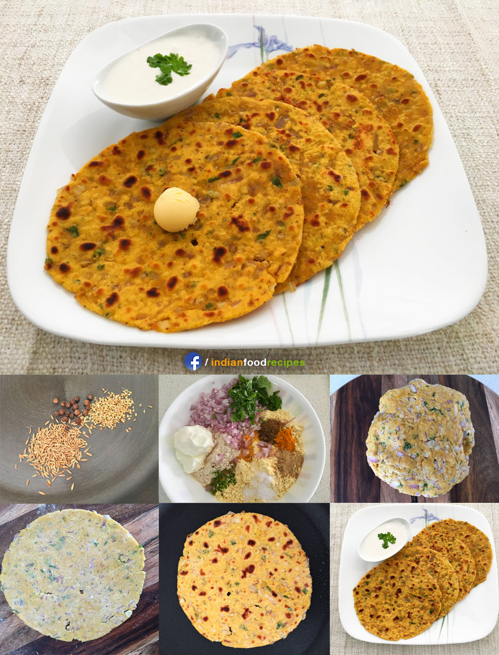 Missi Roti recipe step by step pictures