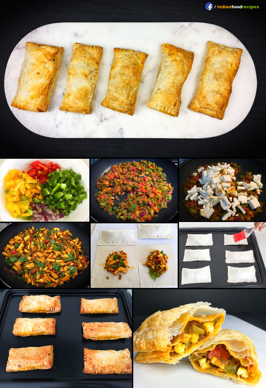 Paneer Puff recipe step by step pictures