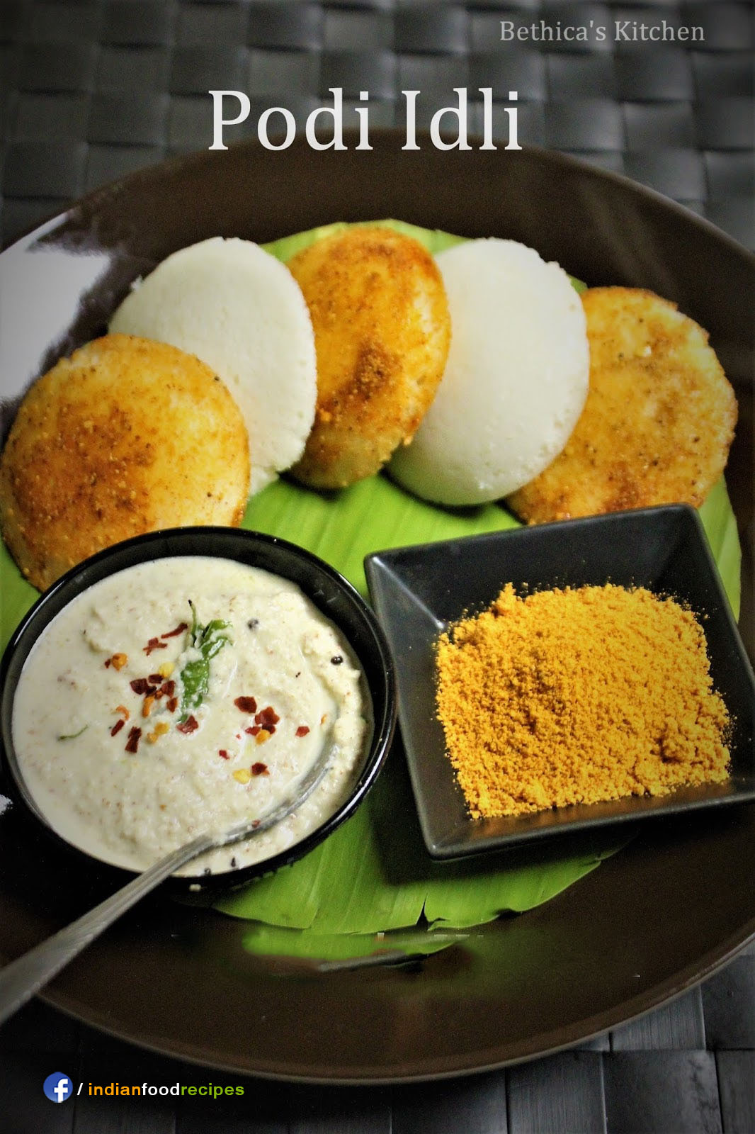 Podi Idli recipe step by step pictures