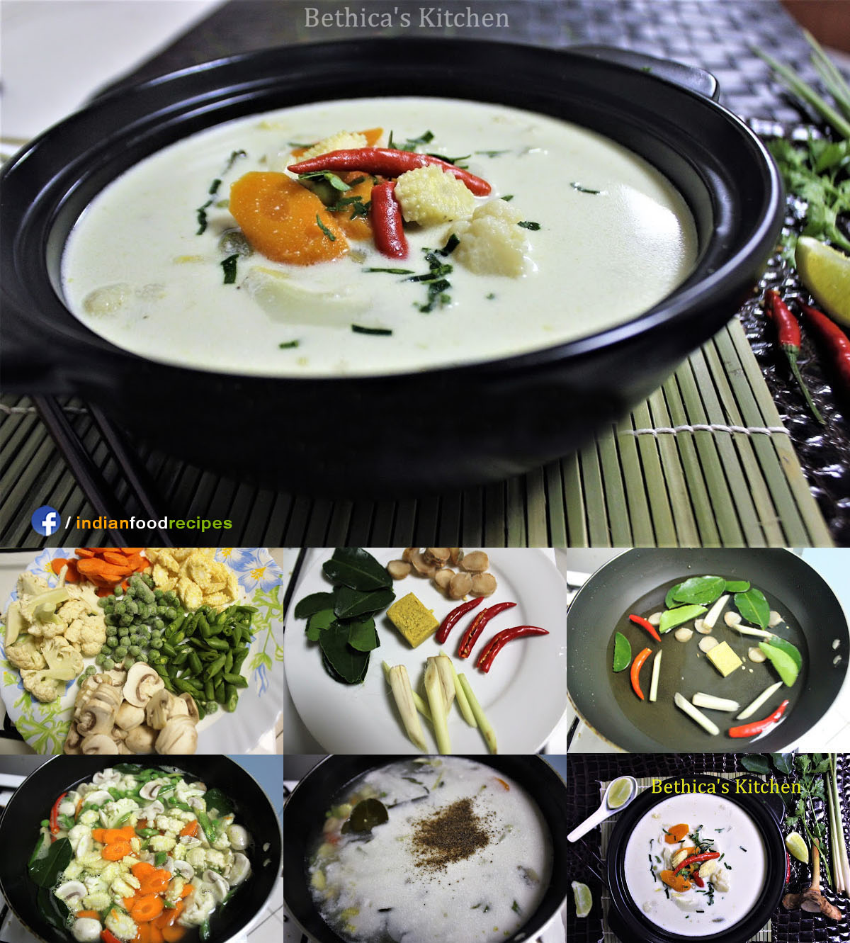 Coconut Milk Soup | Indo Thai recipe step by step
