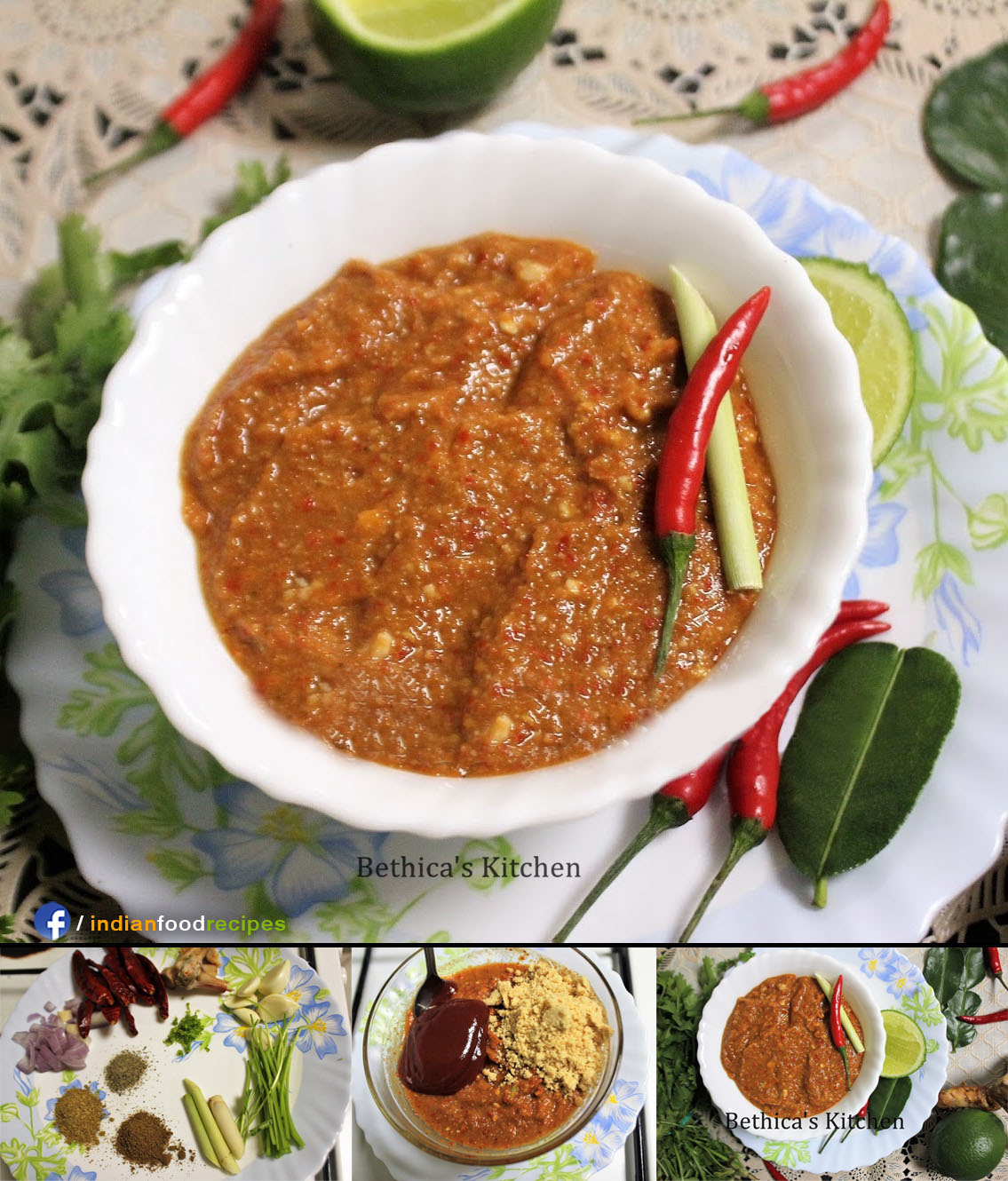 Thai Panang Curry Paste | Indo Thai recipe step by step pictures