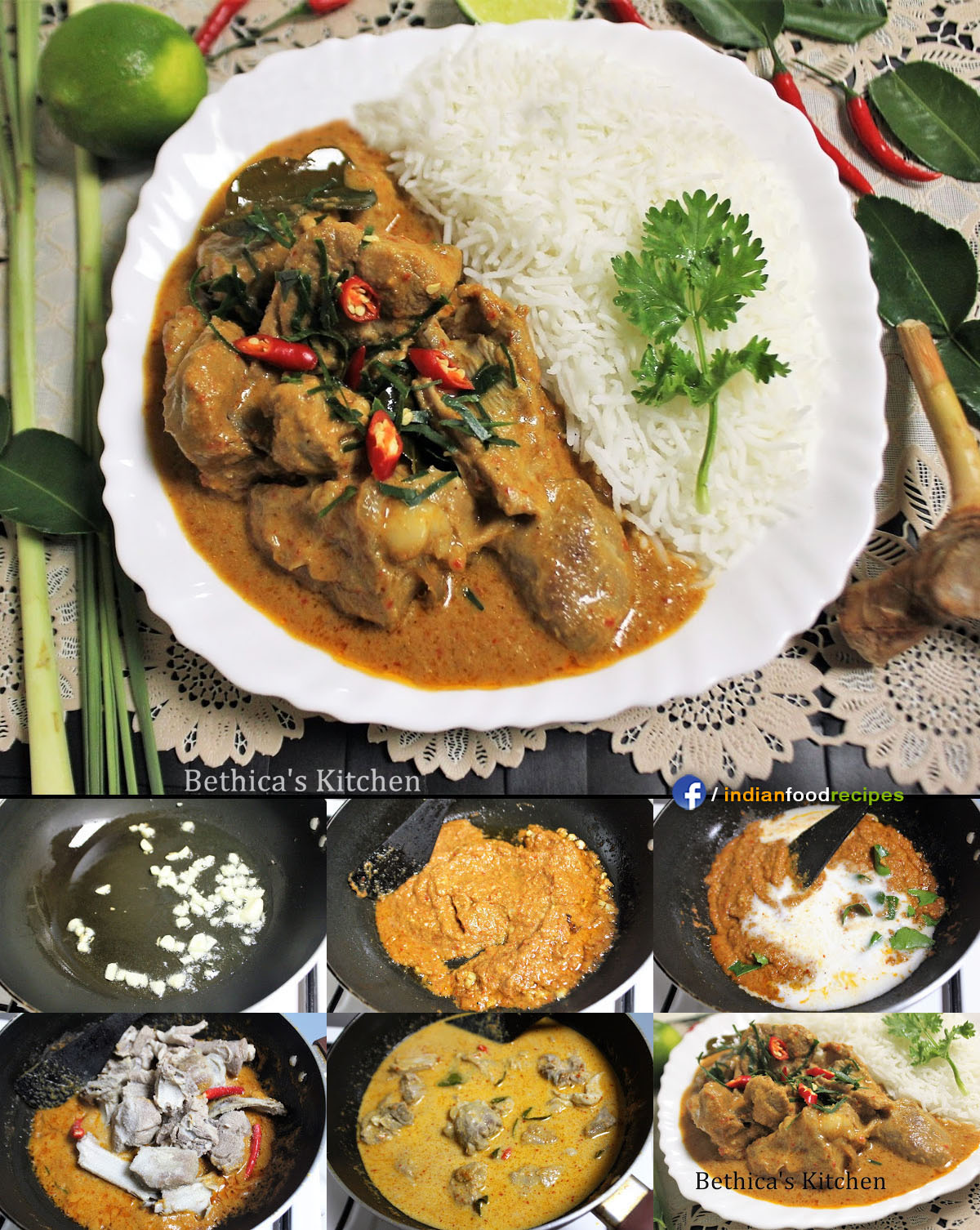 Panang Curry With Mutton Indo Thai Recipe Step By Pictures
