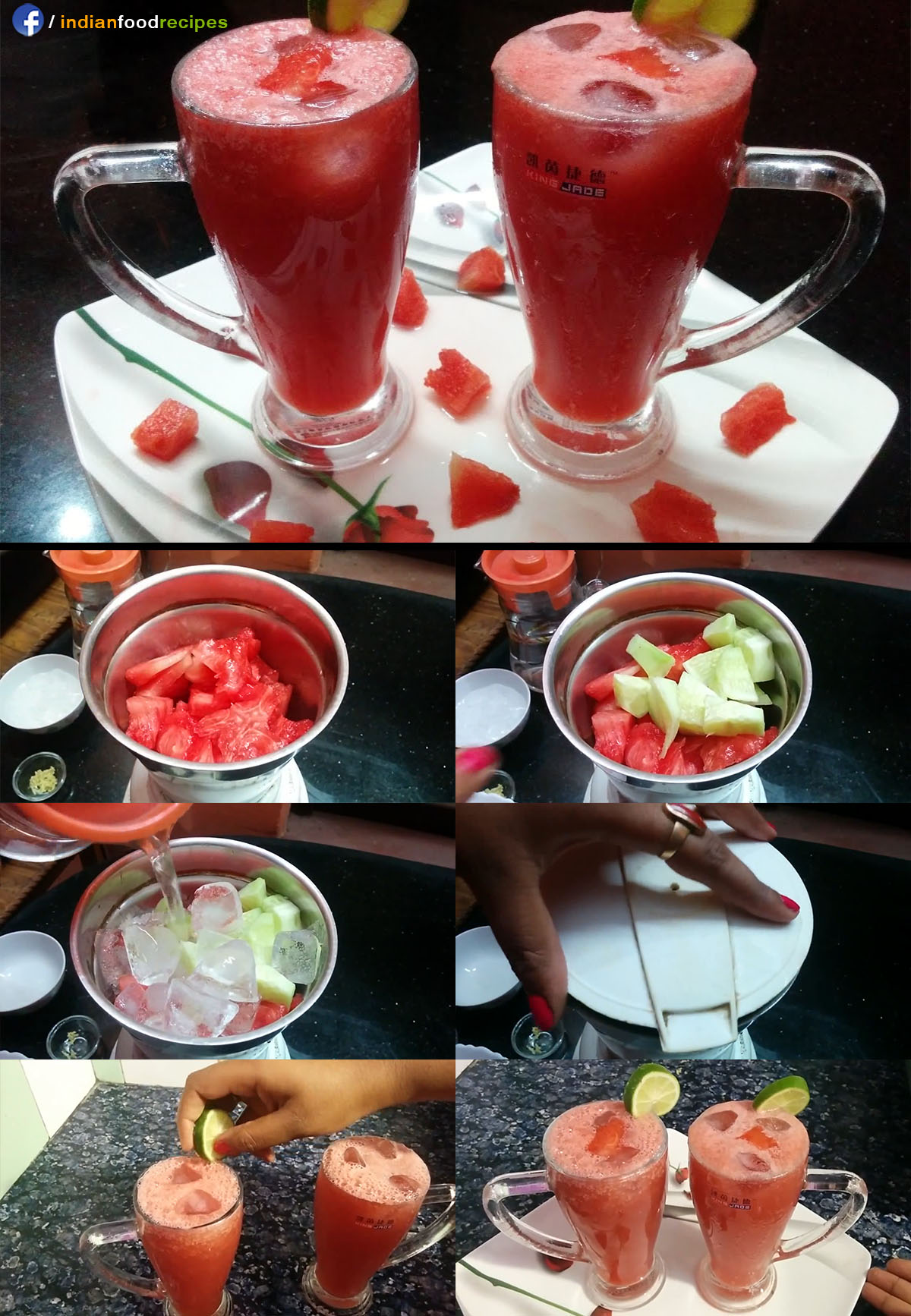 Watermelon Smoothie Juice recipe step by step