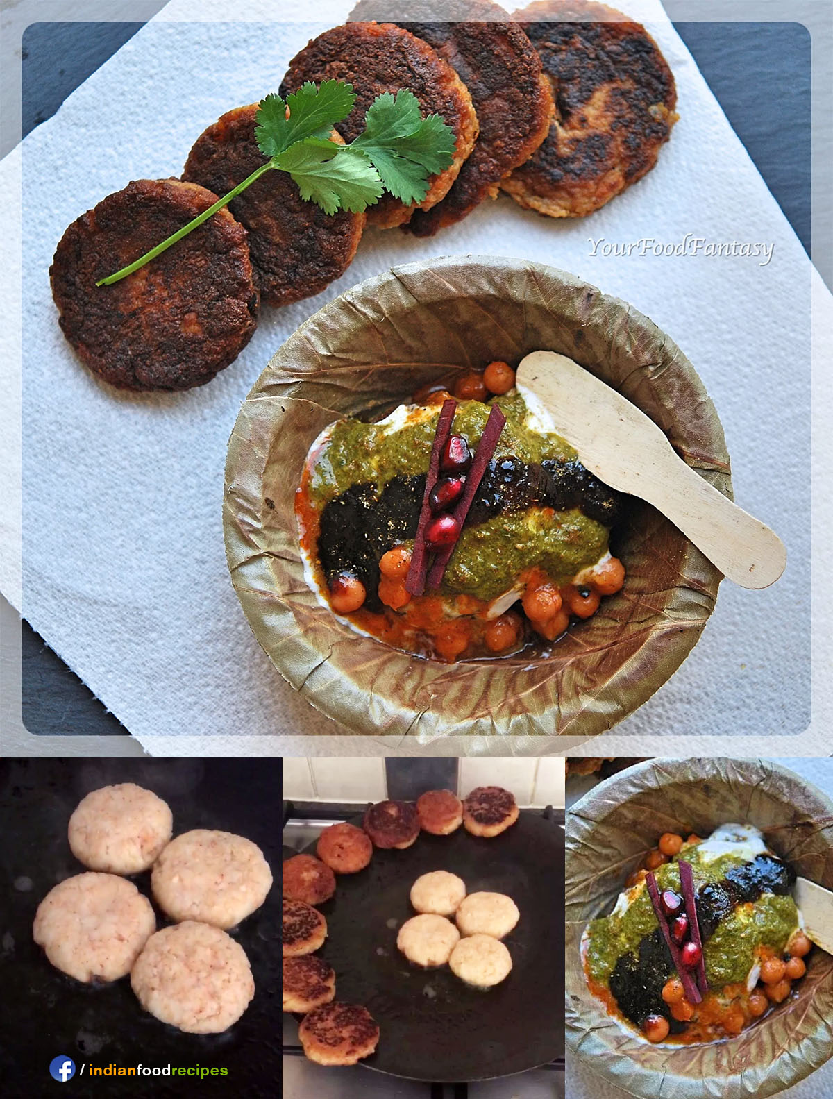 Aloo Tikki Chaat Potato Tikki recipe step by step pictures