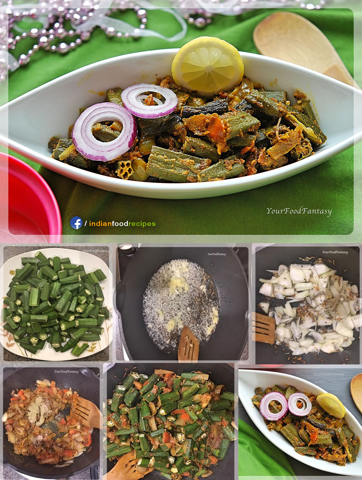 Bhindi Do Pyaza Okra recipe step by step pictures